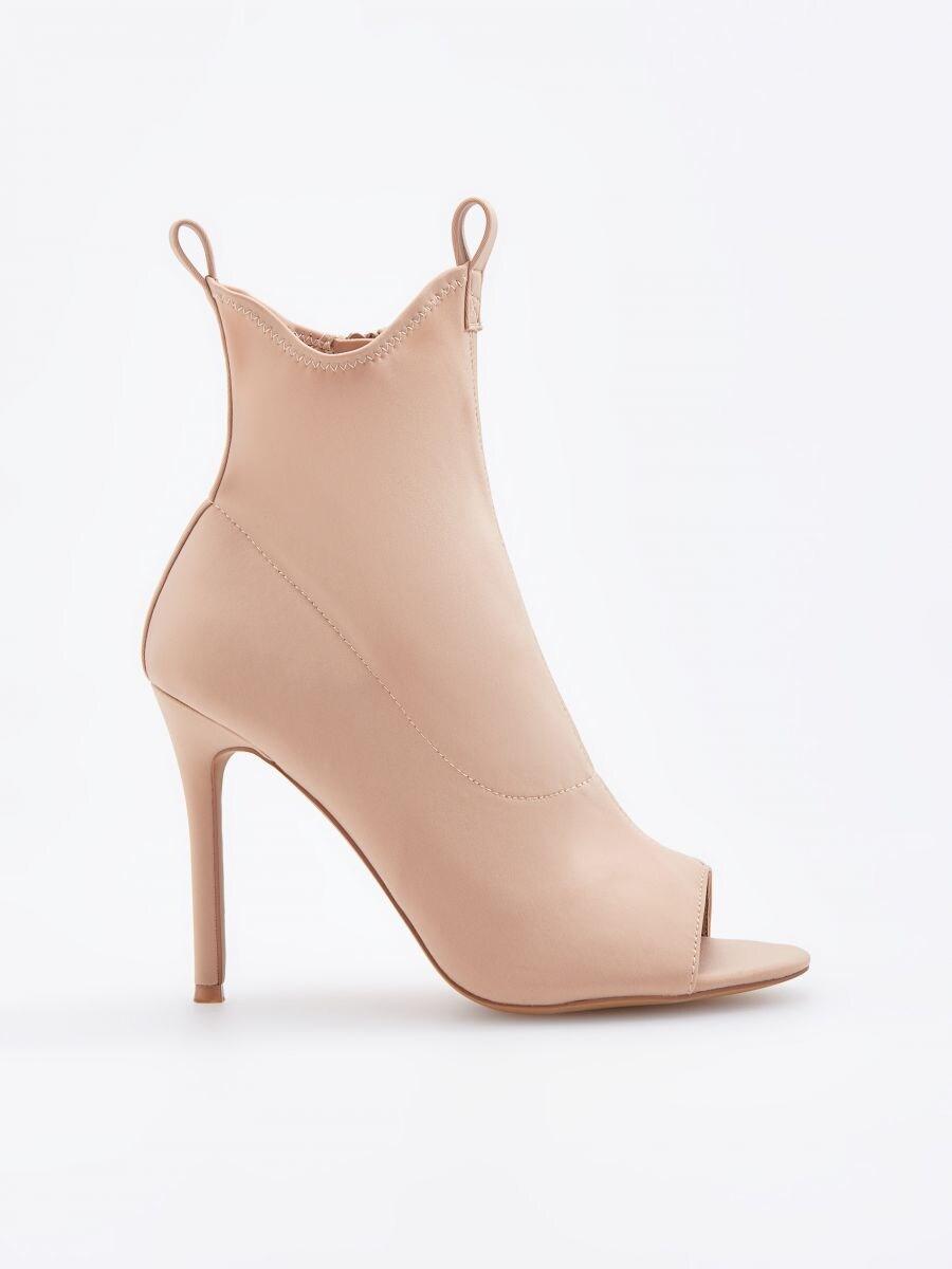 5ceec1c981bd Nakupujte online! Členkové topánky s otvorenou špičkou