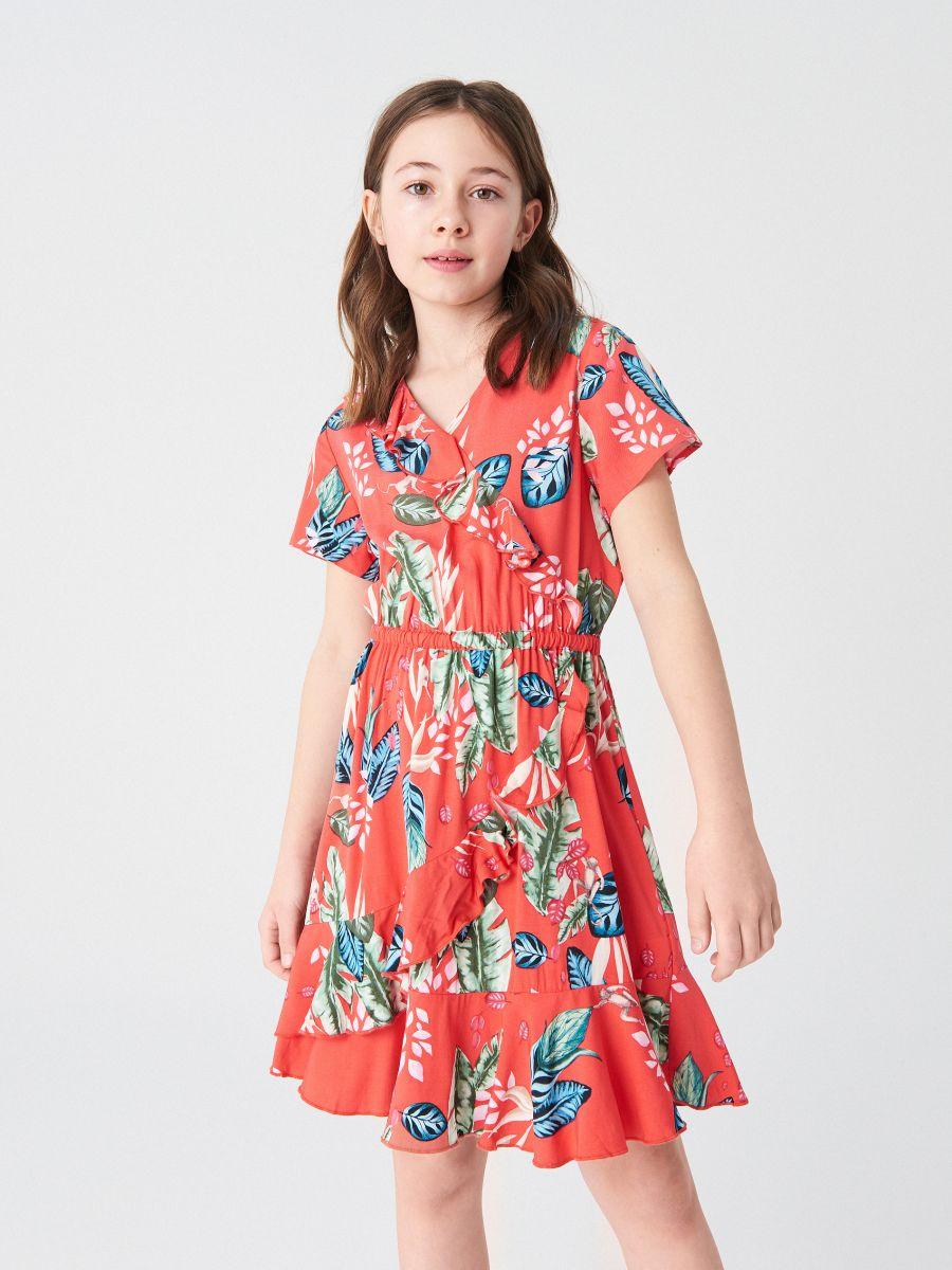 781716c7739 Volangidega kleit - oranž - VO130-32X - RESERVED - 1