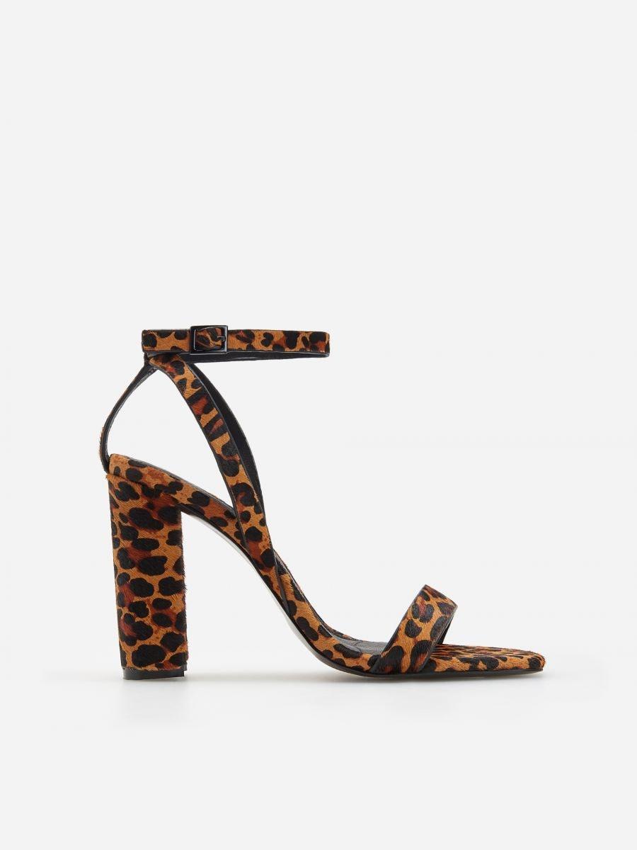 48e4fbf97576 Buy online! Leopard print high heel sandals, RESERVED, WA950-MLC
