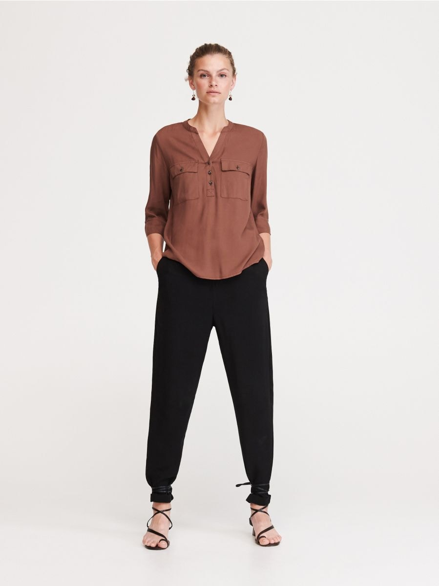 exclusive deals hot products rich and magnificent Buy online! Viscose blouse with pockets, RESERVED, WS594-84X