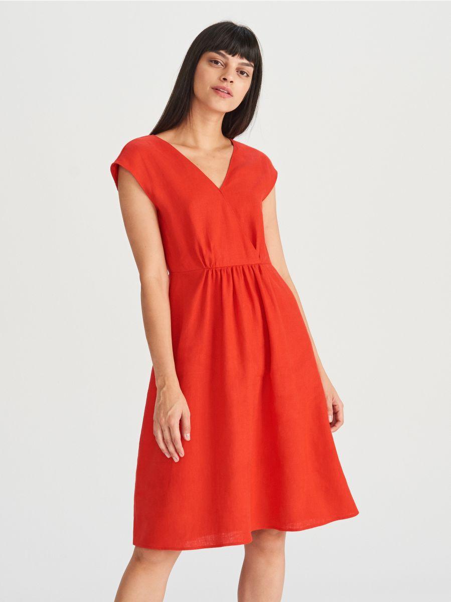 edab8cb080 Lniana sukienka