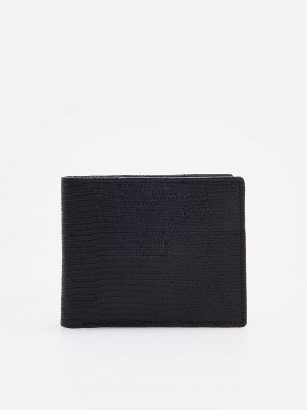 01704193b4e19 Skórzany portfel · Skórzany portfel - czarny - TD357-99X - RESERVED