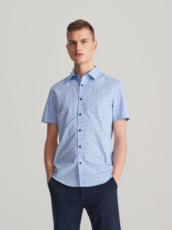 2335703d52e0b ... Koszula slim fit z drobnym wzorem - niebieski - VC969-05X - RESERVED