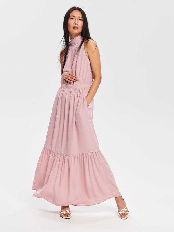 2dab26dc8cc0 Šaty so žabó · Dlhé šaty - ružová - VD941-03X - RESERVED