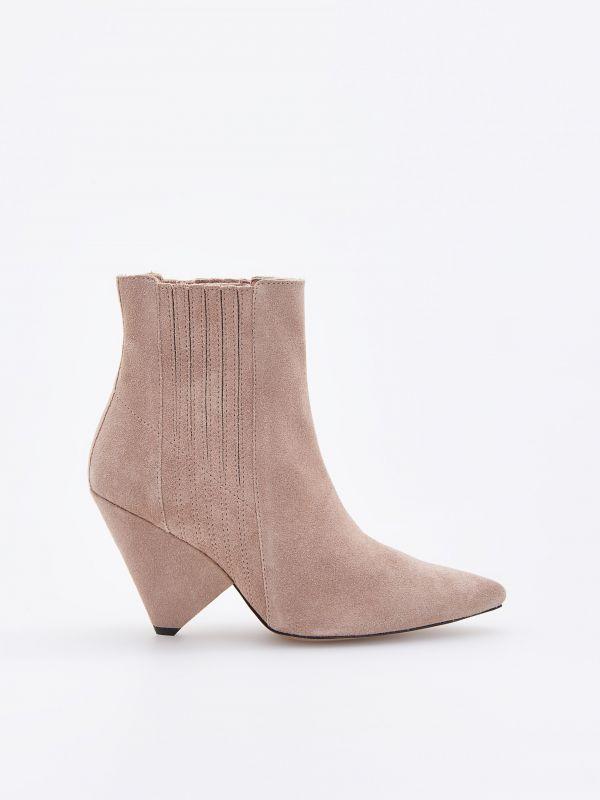cfb2e45ebb LADIES` ANKLE BOOTS · Členkové topánky s kužeľovým opätkom - béžová -  VH655-08X - RESERVED