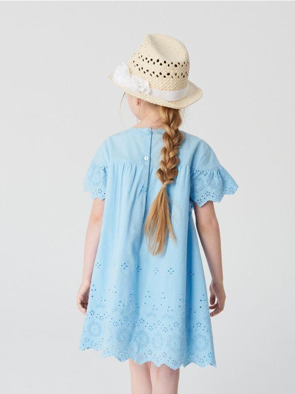 8026227158 Ażurowa sukienka · Sukienka z bawełny organicznej - niebieski - VP708-05X -  RESERVED