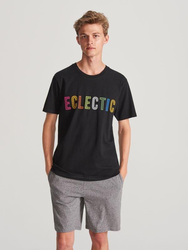 36661ed3bdc968 Bawełniana piżama z szortami · Piżama z szortami - czarny - WF850-99X -  RESERVED