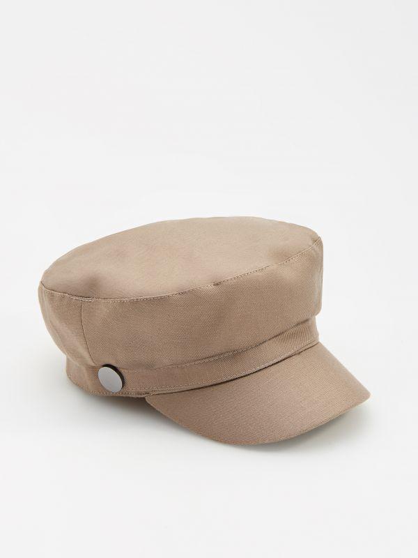 aceff4d7 Soft jersey hat · Viscose rich breton cap with linen blend - green -  WS299-91X - RESERVED