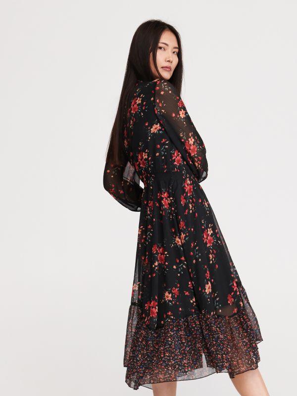 9b55b0175 Sukienka w kwiaty - wielobarwny - XJ678-MLC - RESERVED